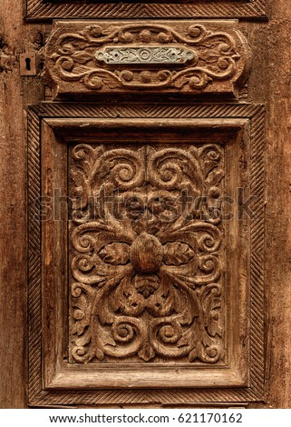 Ornament on the old doors