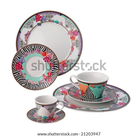 ornament plates and cup