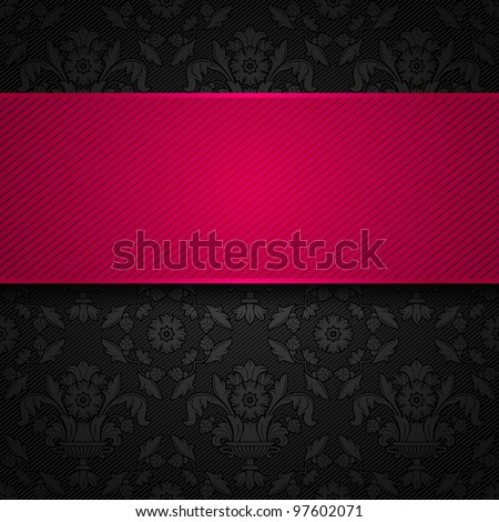 ornament template fabric texture, pink ribbons