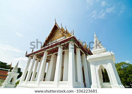 ornament temple and  pagoda