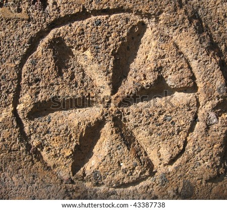 ornament texture and medieval religious symbolics - stock photo