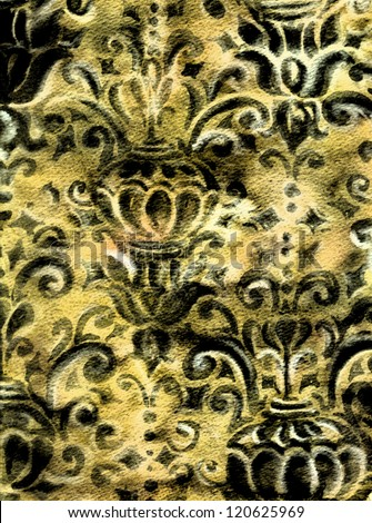 Ornamental background - stock photo