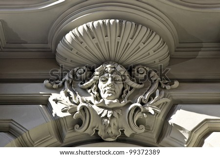 Ornamental figure on wall