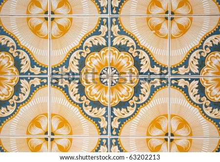 Ornamental old typical tiles from Portugal.