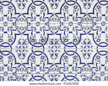 ornamental old typical tiles from Spain