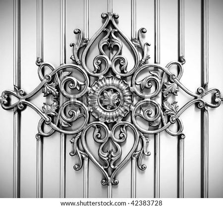 ornamental on metal background