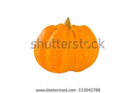 ornamental pumpkin on pure white background