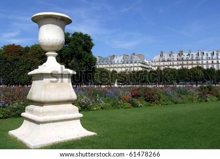 Ornamental Sculpture at Garden des Tuileries Paris