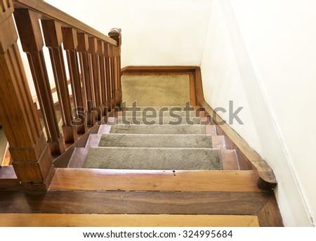 Ornamental wood staircase - interior design - Vintage