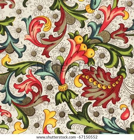 ornamental wrapping paper
