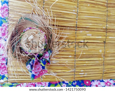 ornamentation with straws and cloths #1421750090