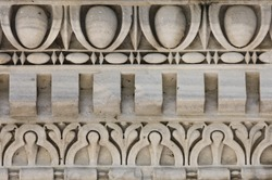Ornaments in stone in Aquileia, in Italy