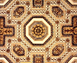 Ornaments on the ceiling in St Peter's Cathedral in Rome