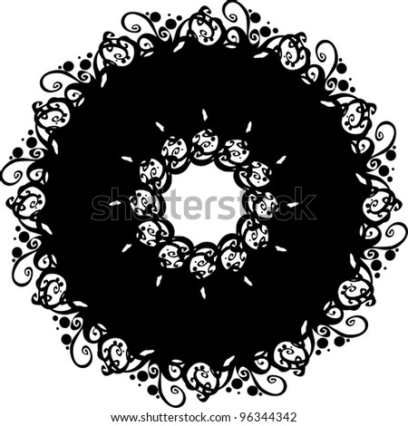 ornate abstract silhouette