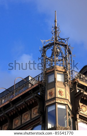 Ornate building in Brussels, Belgium