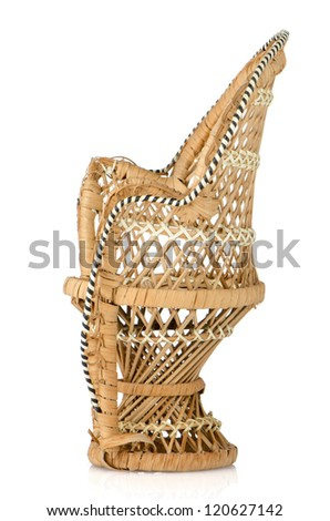 Ornate Cane Chair on white background.