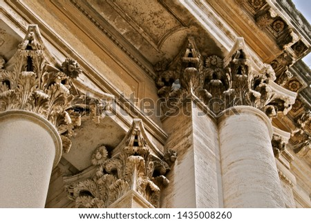 Ornate Capitals Sit on Pillars of Strength #1435008260