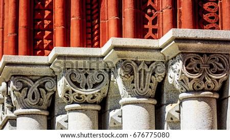 Ornate columns #676775080