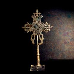 Ornate Cross With Dark Textured Background