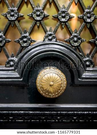 ornate door and knob - Dutch Doors #1165779331