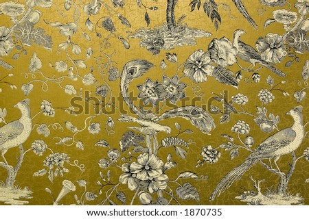 golden wallpaper. Ornate gold wallpaper