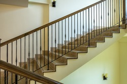 Ornate handrail of wrought iron