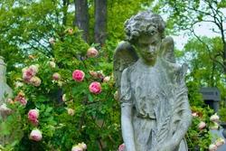 Ornate headstone at Père-Lachaise Cemetery - Paris, France