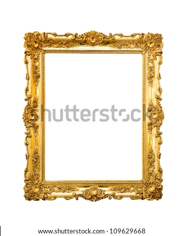 Ornate picture frame hanging on a wall
