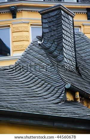 Ornate roofing tiles