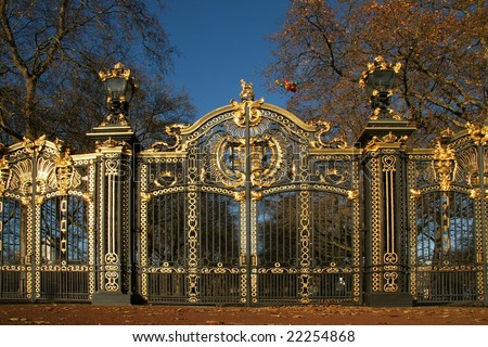 Ornate  Royal Gate in London England