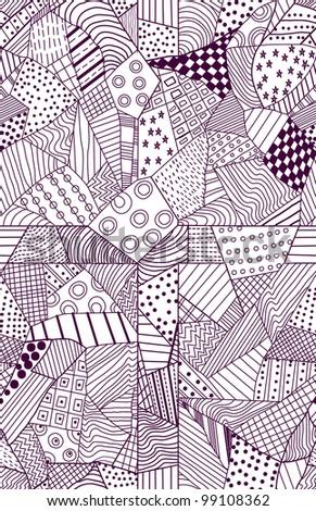 ornate seamless pattern, beautiful illustration - stock photo