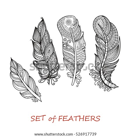 Coloring Pages Of Feathers Beautiful Beauty Black