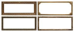 Ornate vintage aged metal frames