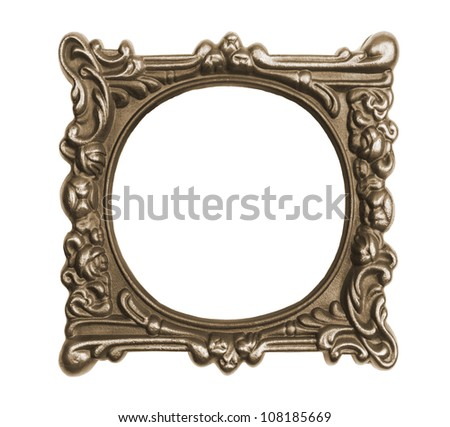 Ornate vintage frame isolated on white background