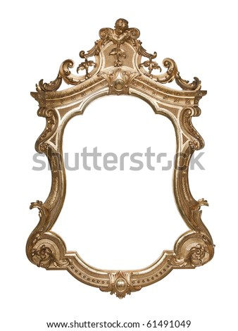 Ornate vintage frame with clipping path - stock photo