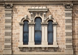 Ornate window on old building
