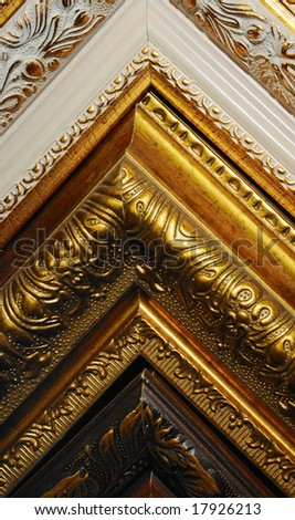 ornate wooden corners of frame