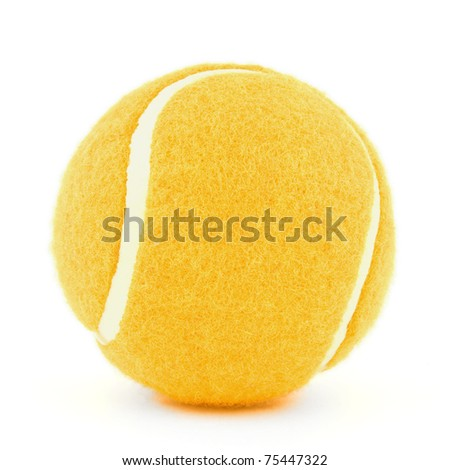 ornge tennis ball isolated on white