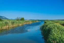 Ornithological nature park Vrana lake (Vransko jezero) in Dalmatia, Croatia