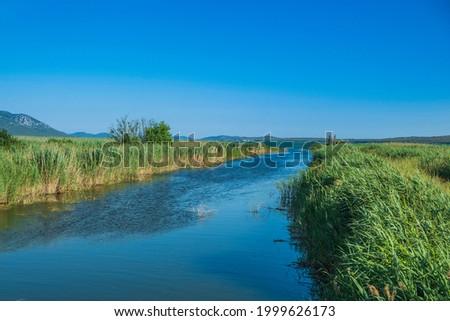 Ornithological nature park Vrana lake (Vransko jezero) in Dalmatia, Croatia Stock photo ©