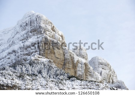Oroel Peak in the Pyrenees, Jaca, Huesca, Aragon, Spain