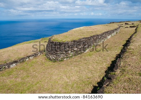Orongo ruins at Easter island