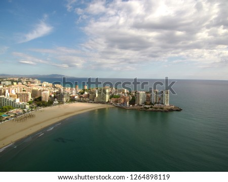 Oropesa de Mar, Castellon. Spain. Drone Photo