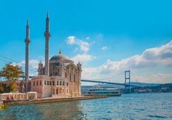Ortakoy mosque and Bosphorus bridge -  Istanbul, Turkey