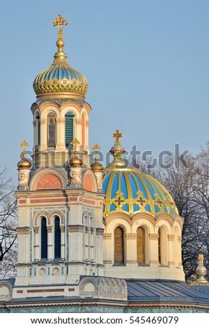 Orthodox Church in Lodz, Poland Zdjęcia stock ©