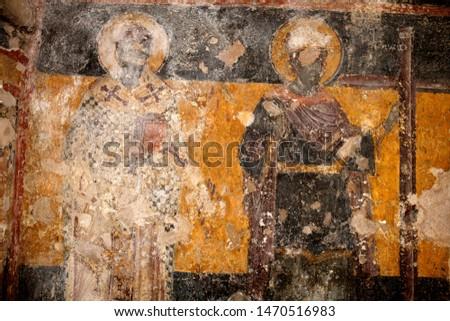 Orthodox fresco at Athens Greece