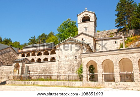 """Orthodox monastery in Cetinje, Montenegro. The monastery has a few holy relics:particle from�True Cross of Christ�, �right hand of Saint John the Baptist� and icon of holy mother of God """"Filerimosa�."""