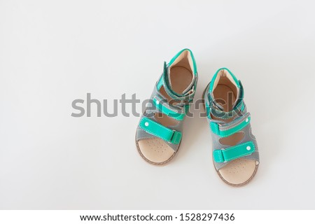 Orthopedic shoes for children on white background #1528297436