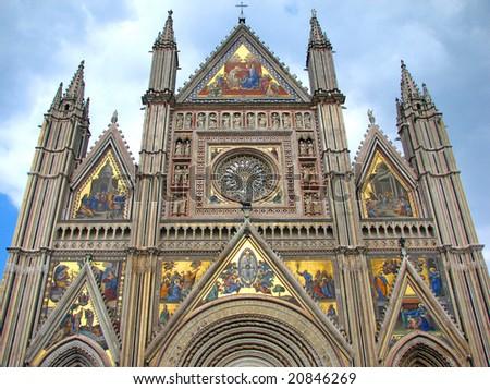 Orvieto - Cathedral Facade - stock photo