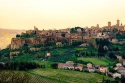 Orvieto - Umbria - Italy - Orvieto city host the famous Saint Patrick Well or Pozzo di San Patrizio .